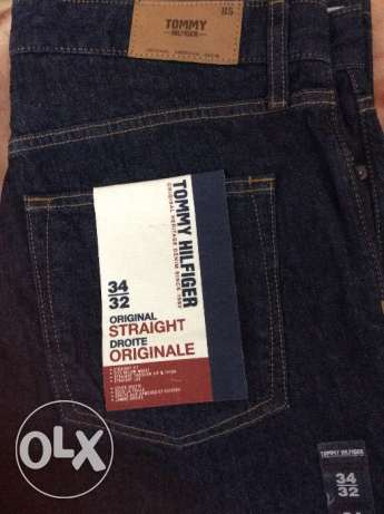 Tommy hilifiger original 34 straight from Canada new بنطلون جينز تومي