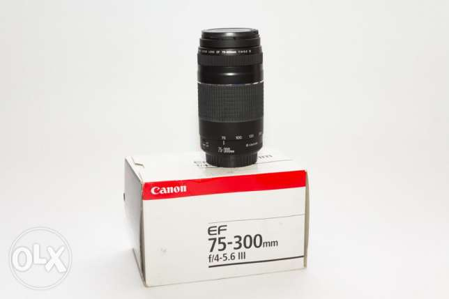 canon 75-300 f 4-5.6 NEW never used with box inbox