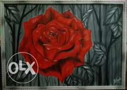 Oil color painting hand made