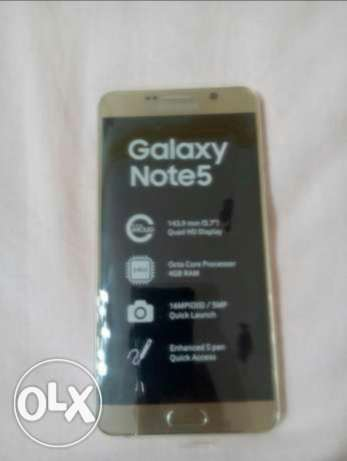 For Sale Samsung Galaxy Note 5 Platinum Gold Duos Very Good Condition