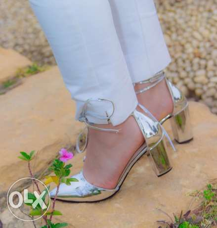 silver shoes high hells same picture available now sizes 37,38,39,40