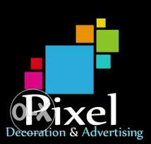 Pixel decoration & advertising