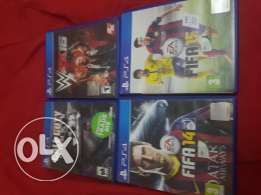 Fifa 14,Fifa 15,Call of Duty ghosts and WWE 2K16