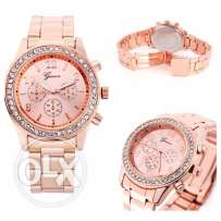 stainless steel rose gold new watch straight for USA for 400 Le only
