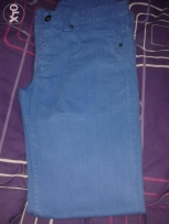 Original Blue Bershka Pants For Sale