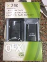 battery and charger and cable for x box