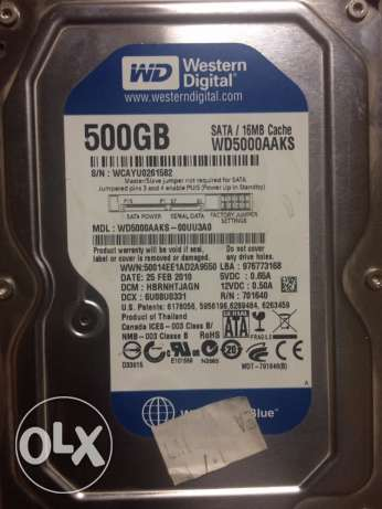 Hard WD 500 Gb