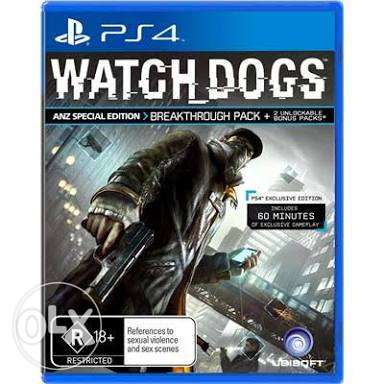 Watch dogs حاله ممتازه spicial edition