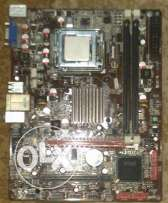 Motherboard Jetway G41 +CPU Dual core