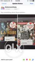 la noire and sleeping dogs للبيع او البدل
