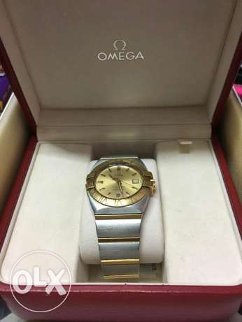 YollowGold & steel Omega watch