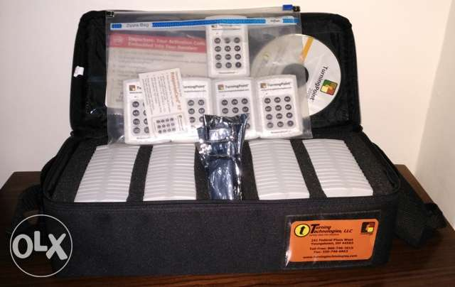 Turning Point Teacher Classroom RCRF-01.Set of 69 Clickers& 4 receiver