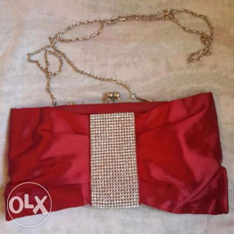 Brand NEW Red Soiree clutch