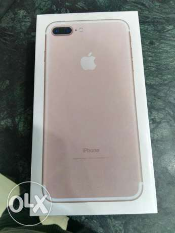 iphone 7plus 128 rose golde new سموحة -  1
