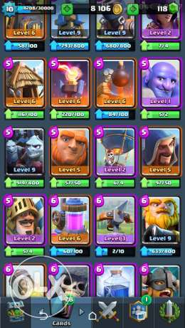 Arena 10 Clash royale account مصر الجديدة -  2