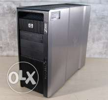 hp z800 xeon 2cpu ram 24g cash 24m hdd600 sas اورجينال بالضماان