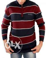 Pierre-cardin-sweatshirt-navy-red-for-men / احمر في كحلي