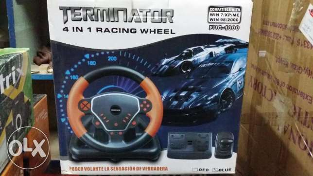 Racing Wheel Terminator 4*1 USB + PS 1,2,3