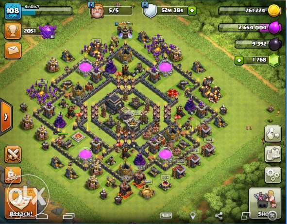 Clash of clans TH max 9 عين شمس -  1