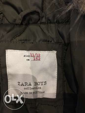 new zara coat for kids 11-12 year may fit smaller never used. الشيخ زايد -  4