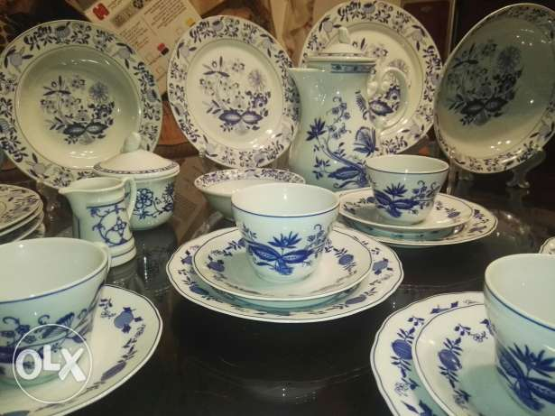 Blue Onion Pattern dinner set for 6 persons,, made in Germany