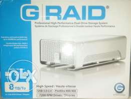 Hard G-raid 8 T.B/To USB 3.0/2.0 FireWire 800/400 720