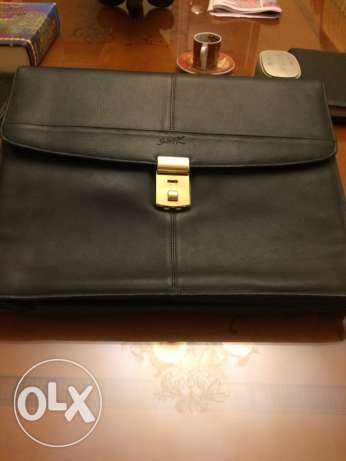 Black leather Brief case