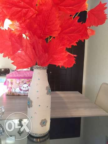 unique handmade vase- winter version مدينتي -  2