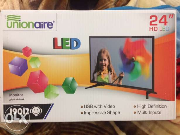 Unionaire led tv 24inch new الإسكندرية -  3