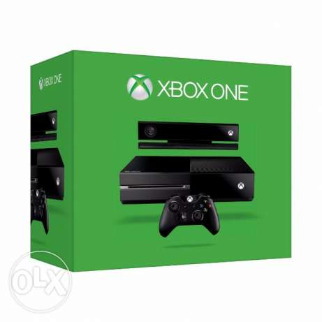 Xbox One with kinect - 2 controllers اكس بوكس وان مع كينكت - 2 دراع