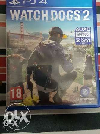 Cd watch dogs 2 playstation 4 no any scratch