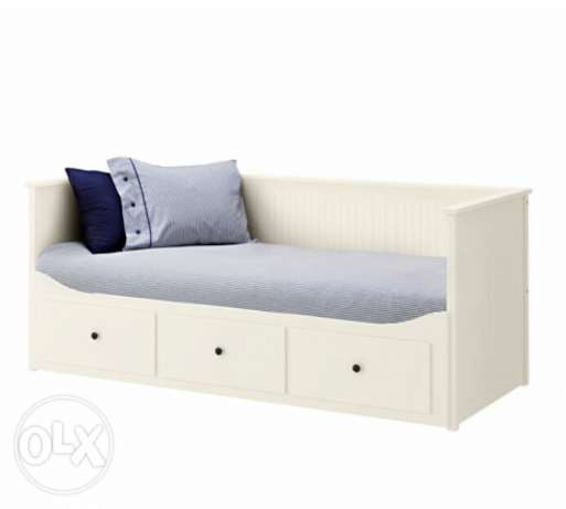 Day-bed frame with 3 drawers, white, 80x200 cm الغردقة -  1