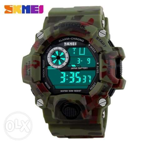 SKMEI Brand Men Military Watch LED Digital Watch 50 Waterproof Quartz العين السخنة -  5