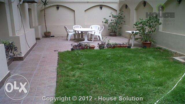 Furnished Ground Floor With Garden For Rent In Maadi Sarayat