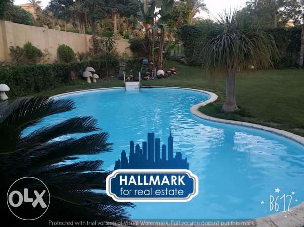Twin House For Rent in Arabella Park New Cairo Semi Furnished