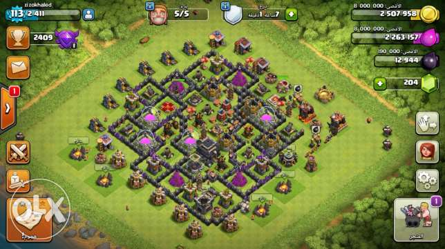 clash of clans town9max with a good clan حلوان -  6