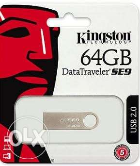 Kingston flash drive 64 giga new with ETS warranty