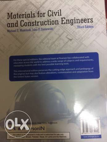 Matrials for Civil and Construction Engineers