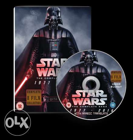 Star Wars complete 8 movie collection blueray 1080p