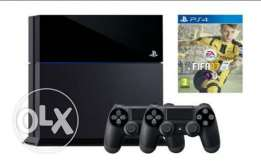 PS4 SLIM (PLAY STATION 4) + 2 Controlles + fifa 2017