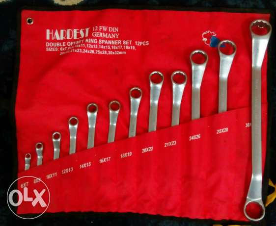 GERMANY. Double Offset Ring Spanner Set 12 Pcs.