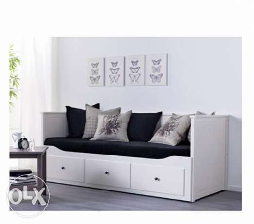 Day-bed frame with 3 drawers, white, 80x200 cm الغردقة -  3
