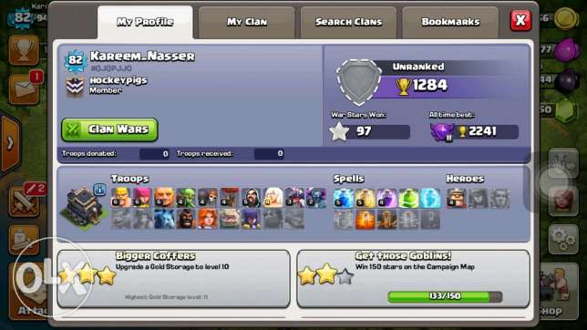 Clash Of Clans lvl 82 with 1500 Gem and 4 builders