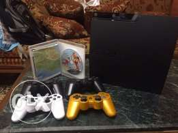 ps slim 320 gb used like new with 15 new game معدل