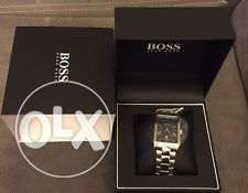 NWT HUGO BOSS - Men's Classico Watch Silver, Blue Dial, Style #: 15131
