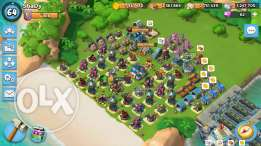 Boom Beach Account Lvl 64