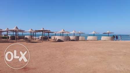 flat in compound on the beach direct الغردقة -  1