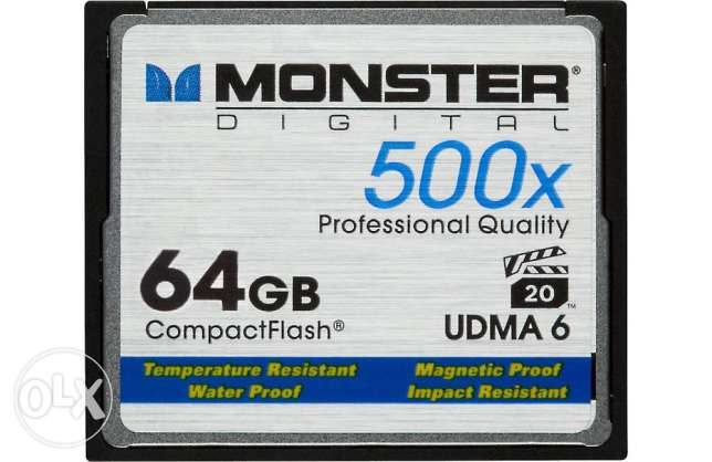 Monster Digital Compact Flash Memory Card 500X speed, 64GB capacity وسط القاهرة -  4