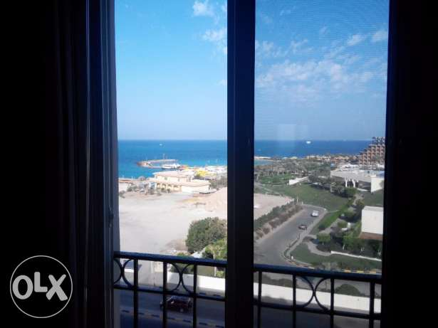 Studio with Sea View Front of Hilton Plaza Hotel, Hurghada الغردقة -  4