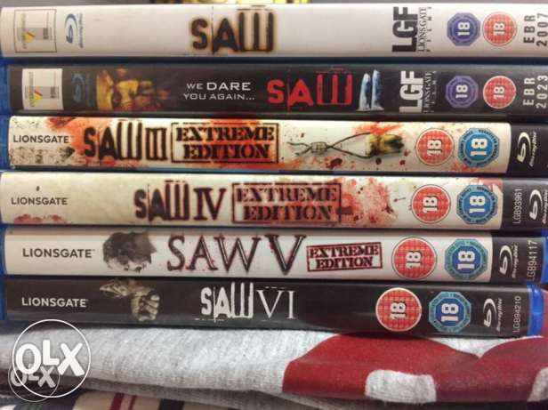 saw bluray movies limited edition (6 parts)